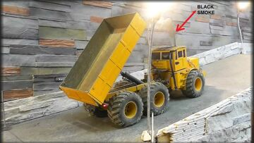 HEAVY RC CONSTRUCTION MACHINES! AWESOME RC TIPPER! KIROVETS K 700!  RC LIVE ACTION FOR KIDS