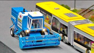 MICRO MINIATURE RC HARVESTER AGRICULTURE MACHINE IN SCALE 1:87 WITH AMAZING FUNKTIONALITY IN MOTION