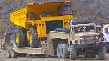 惊人的和巨大的 Rc 卡车! CATERPILLAR EQUIPMENT IN ACTION! HC6 6X6 SPECIAL