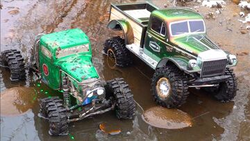 GET WET – Two Guys Play with Muddy RC 4×4 Trucks – AXIAL SCX10 RELIC & POWER WAGON | RC ADVENTURES