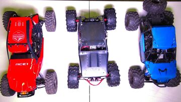RC ADVENTURES – Compare! Capo ACE-1, BLACK WiDOW Wraith, Axial BOMBER RC Trucks