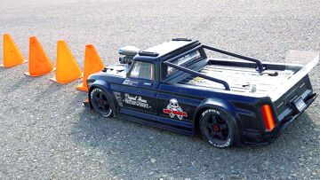 """INSANE ARRMA Infraction V2 """"TOY"""" RACE TRUCK BLACKED OUT   RC ADVENTURES"""