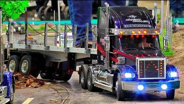 Wow !!! RC SCALE MODEL TRUCKS IN SCALE 1:14 WITH AMAZING DETAILS IN MOTION ON A FANTASTIC PARCOUR