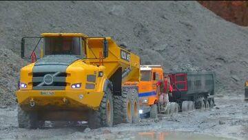 ZIUA PLOILOR TORENȚIALE! BIGGEST RC CONSTRUCTION SITE UNDER WATER! URAL 4320 STUCK IN MUD