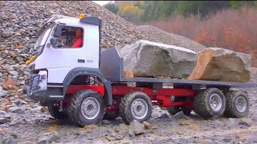 RC VOLVO L250GS WORK IN MUD! VOLVO FMX 8X8 RC WORK IN MUD! MUDDI RC CONSTRUCTION SITE