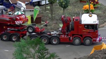 CONSTRUCTION MACHINES – AMAZING RC MODELS ON THE ROAD – RC SHOW  – RC  FAIR !