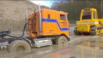 LIEBHERR R970 PME! ZONE DE CONSTRUCTION RC EXTRÊME! Liebherr 741 Bulldozer! LKWMUDDING! CAMION RC