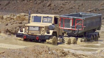 RC TRUCKS AND CONSTRUCTION MACHINES IN MOTION! RC CAR! RC GLOBE LINER, RC EXCAVATORS, RC MUDDING