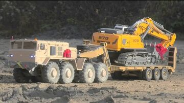 Maz 537 RC WITH 80t TRAILER AND LIEBHERR R970 SME! HEAVY MACHINES WORK SO REAL