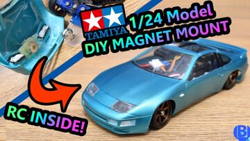 DIY Magnet Body Mount for 1/24 Scale Model on RC Car feat. HGD1 1/28 RWD Drift