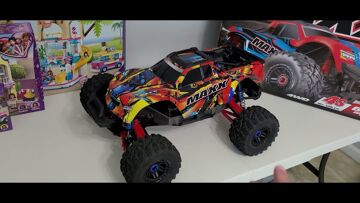 3 Month Review of Traxxas 1/10 scale rc truck Maxx   Speed Runs And Bashing Must Buy!