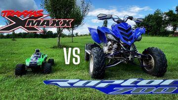 WIE ZAL WINNEN? RC CAR tegen ATV!