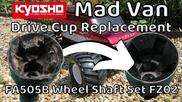 Kyosho Mad Van VE FA505B Drive Cup Fitting. Wheel Shaft Set for FAZER Mk2 FZ02. Mad Van maintenance