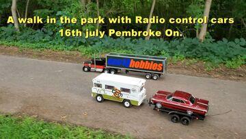 Μια βόλτα στο πάρκο με αυτοκίνητα ελέγχου ραδιοφώνου 16 Ιουλίου, Πέμπροκ στις.