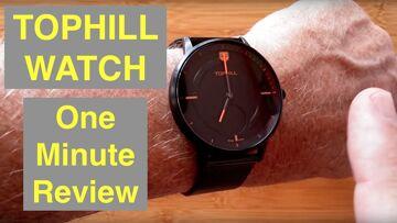 TOPHILL WATCH Hybrid 5ATM Waterproof Swiss Analog/Digital Combo Smartwatch: One Minute Overview