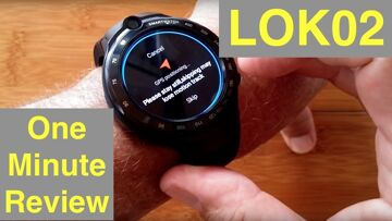 """LOKMAT LOK02 (Like Thor 4 Dual) 4G Android 7.1.1 """"Always Time"""" Smartwatch: One Minute Overview"""