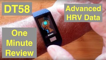 No.1 DT58 Advanced HRV IP68 Waterproof Large Screen ECG Fitness Band: One Minute Review