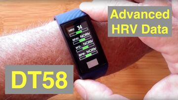 No.1 DT58 Advanced HRV IP68 Waterproof Large Screen ECG Fitness Band: Unboxing and 1st Look