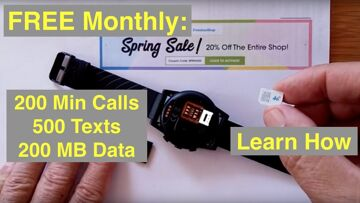 FREEDOM POP: Free 200 Min Calls, 500 Texts, 200MB 4G Data Monthly for your Android Smartwatch!