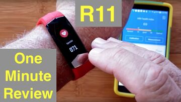 L8STAR R11 ECG+PPG Heart Wave Charting Blood Pressure Health/Fitness Wristband: One Minute Overview