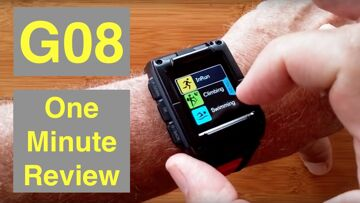 Makibes G08 Bright Full COLOR GPS IP67 Waterproof Fitness/Swimming Smartwatch: One Minute Overview