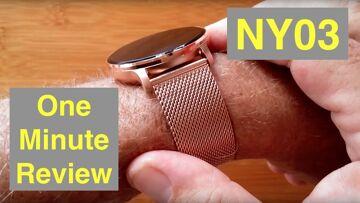 RUNDOING NY03 IP68 Waterproof Multi-Sport Blood Pressure Dress Smartwatch: One Minute Overview