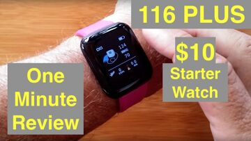 """BAKEEY 116 Plus Full Featured """"Apple Watch Sized"""" Starter Smartwatch for $10: One Minute Overview"""