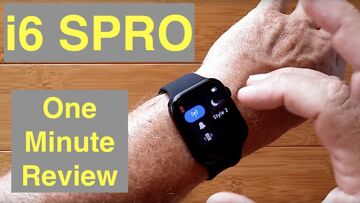 IWATCHS i6 SPRO GPS Apple Like Smartwatch Bluetooth Calling Wireless Charging: One Minute Review
