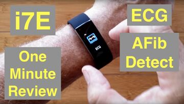 ALFAWISE i7E Atrial Fibrillation ECG IP68 Waterproof Health Fitness Band: One Minute Overview