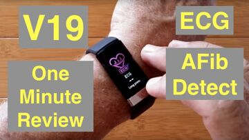 BAKEEY V19 Atrial Fibrillation ECG IP68 Waterproof Health Fitness Band: One Minute Overview