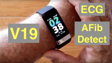 BAKEEY V19 Atrial Fibrillation ECG IP68 Waterproof Health Fitness Band: Unboxing and 1st Look