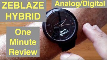 ZEBLAZE Hybrid Analog/Digital 5ATM Waterproof Blood Pressure Dress Smartwatch: One Minute Overview