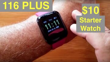 """BAKEEY 116 Plus Full Featured """"Apple Watch Sized"""" Starter Smartwatch for $10: Unboxing and 1st Look"""