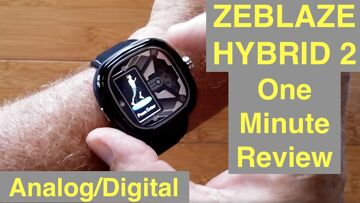ZEBLAZE Hybrid 2 Analog/Digital 5ATM Waterproof Blood Pressure Dress Smartwatch: One Minute Overview