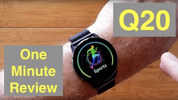 DIGOOR Q20 Big Digit IP67 Waterproof Blood Pressure Smartwatch: One Minute Overview