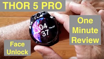 ZEBLAZE THOR 5 PRO Face Unlock Removable Bands Always On Display Smartwatch: One Minute Overview