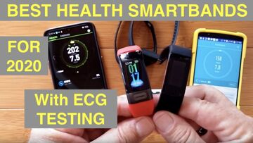 BEST of the Newest 2020 Full Feature ECG Health Smart Bands: Comparing i7E, P11, V19 & Spovan Blade