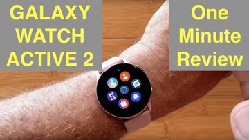 Samsung UPGRADED Galaxy Watch Active 2 (FitBit Competitor) Smartwatch: One Minute Review