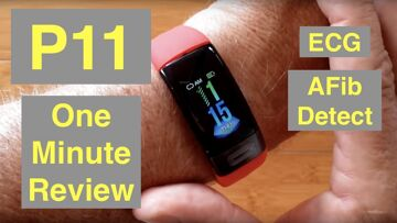 Bakeey P11 Atrial Fibrillation ECG IP67 Waterproof Health Fitness Band: One Minute Overview