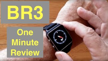 MAKIBES BR3 GPS IP68 Waterproof SUPER BRIGHT Screen Smartwatch Compass, Strava: One Minute Overview