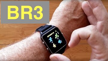MAKIBES BR3 GPS IP68 Waterproof SUPER BRIGHT Screen Smartwatch Compass, Strava: Unboxing & 1st Look