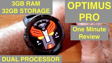 KOSPET OPTIMUS PRO 4G Android 7.1.1 IP67 Waterproof Dual Processor Smartwatch: One Minute Review