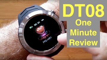 DTNo.1 DT08 IP68 Waterproof Altitude Compass PPG+HRV Sports Smartwatch: One Minute Overview