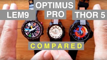 MASSIVE Android Smartwatch COMPARISON: LEM9/Optimus Pro/Thor5 and MORE!