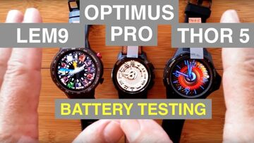 Android Smartwatch BATTERY LIFE Testing: LEM9/Optimus Pro/Thor5 and MORE!