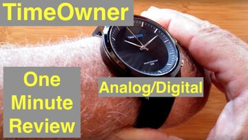 TimeOwner 5ATM Waterproof Hybrid Analog/Digital Dress Smartwatch with SOS: One Minute Overview