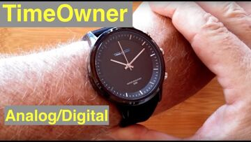TimeOwner 5ATM Waterproof Hybrid Analog/Digital Dress Smartwatch with SOS: Unboxing and 1st Look