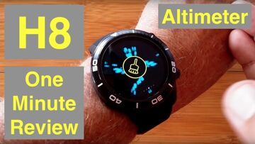 MICROWEAR H8 4G Android 7.1.1 IP68 Waterproof Altimeter, Always Time Smartwatch: One Minute Overview