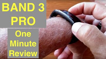 HUAWEI BAND 3 PRO Bright COLOR AMOLED Screen GPS IP68 Waterproof Fitness Band: One Minute Review