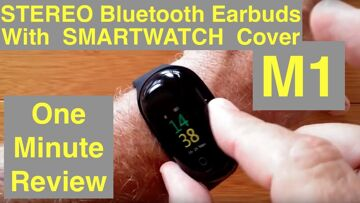 LEMFO M1 Health/Fitness Smart Bracelet with Stereo Earbuds: One Minute Overview